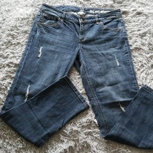 New York &Co distresed low rise slim slouch jeans